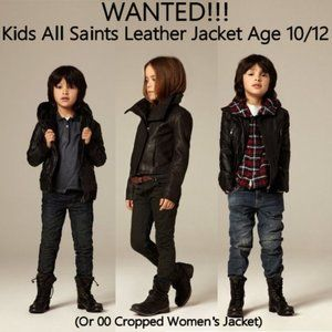 WANTED: All Saints Kids Leather Jacket Age 10/12